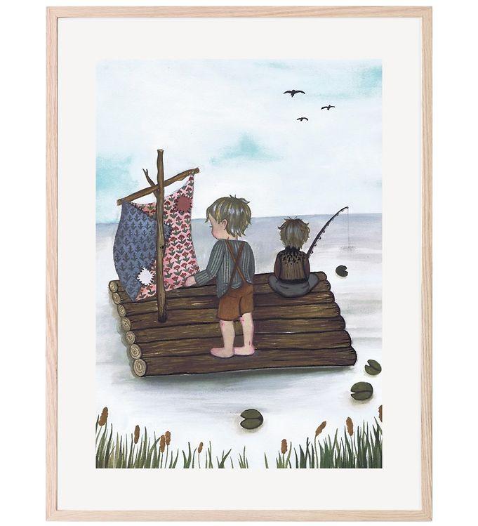 Image of That's Mine Plakat - 30x40 - Raft Fishing (XC615)