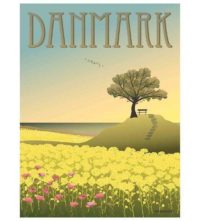 Image of Vissevasse Plakat - 30x40 - Danmark - Rapsmarkerne (XC776)