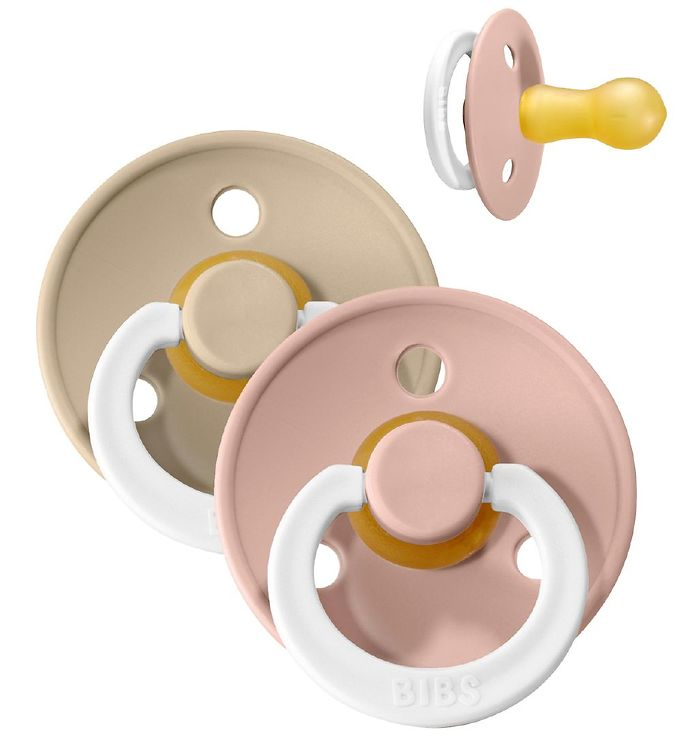 Image of Bibs Colour Natsutter - Str. 1 - 2-pak - Blush & Vanilla (XC804)