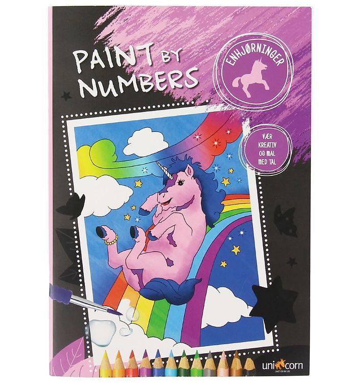 Image of Paint By Numbers Malebog - Enhjørninger (XC864)