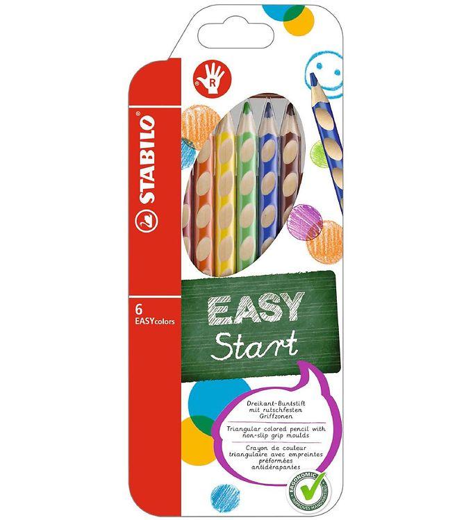 Image of Stabilo Farveblyanter - EasyColors - Højre - 6 stk. - Multifarve (XD218)