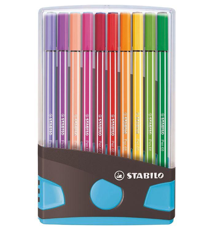 Image of Stabilo Tuscher - Pen 68 - 20 stk. - Blå/Multifarvet (XD228)