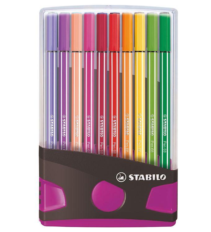 Image of Stabilo Tuscher - Pen 68 - 20 stk. - Pink/Multifarvet (XD229)