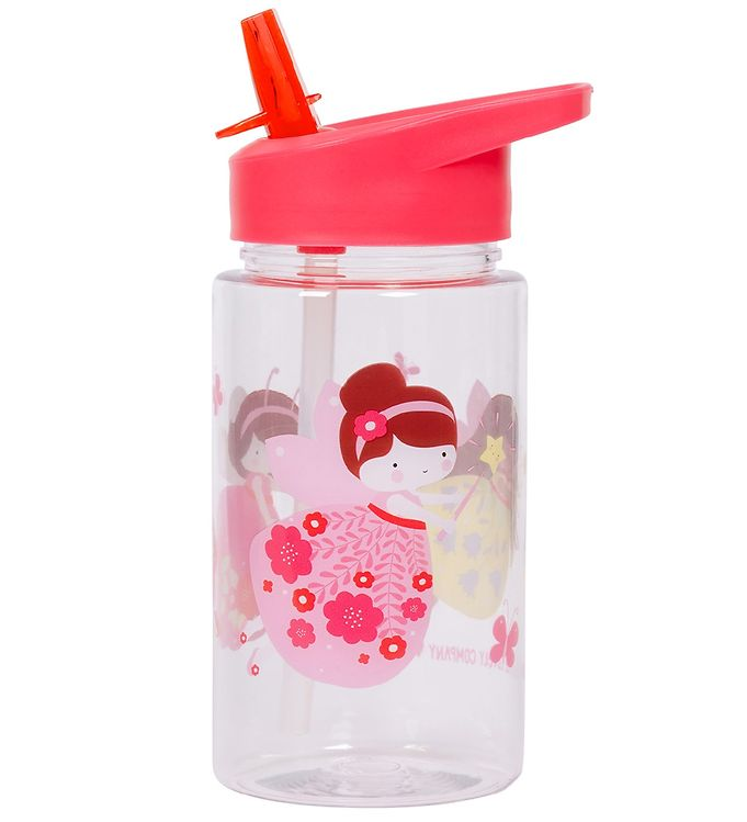 Image of A Little Lovely Company Drikkedunk m. Sugerør - 450 ml - Pink m. (XD688)