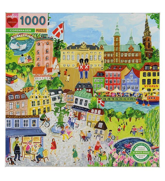 Image of Eeboo Puslespil - 1000 Brikker - København (XD733)