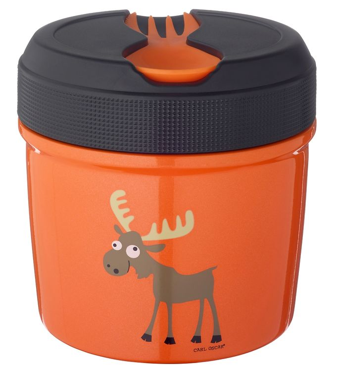 Image of Carl Oscar Termomadkasse - 0,5 L - Orange Moose (XD827)