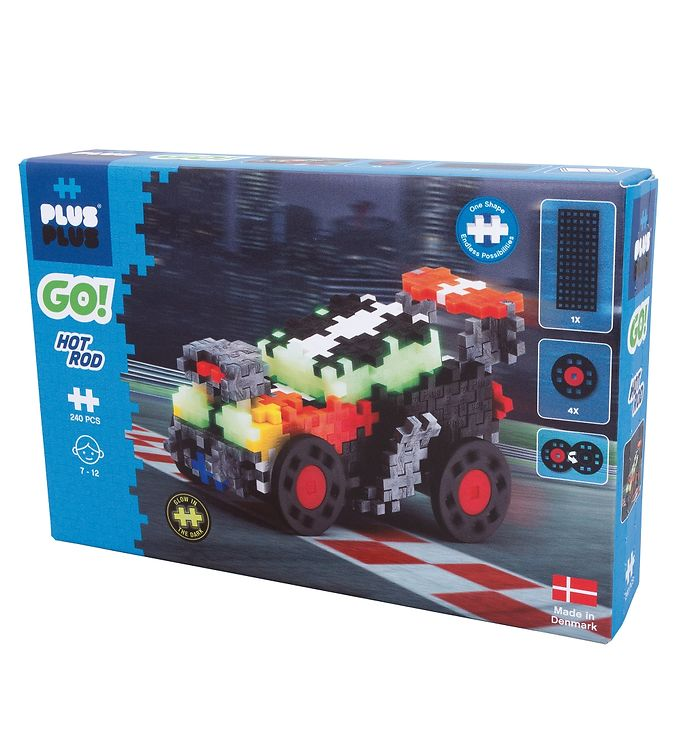 Image of Plus-Plus Go! - Hot Rod - 240 stk (XE181)
