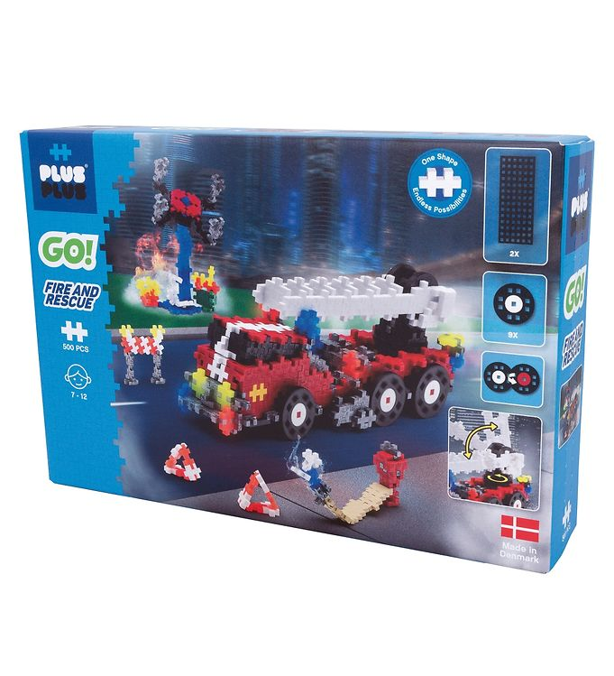 Image of Plus-Plus Go! - Fire And Rescue - 500 Stk (XE183)