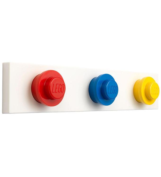 Image of Lego Storage Knagerække - 33 cm - Rød/Blå/Gul (XE194)