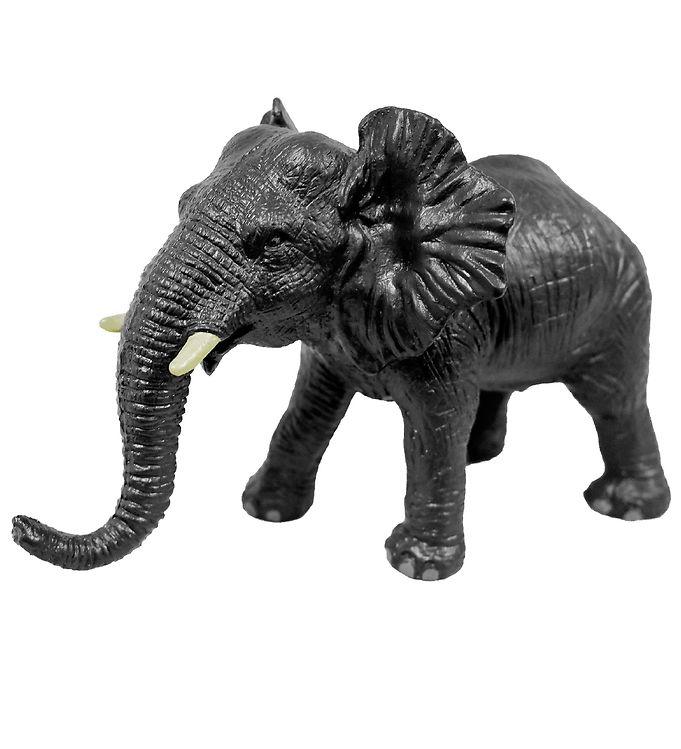 Image of Green Rubber Toys Dyr - 24 cm - Afrikansk Elefant (XE350)