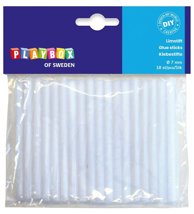 Image of Playbox Limstifter til Limpistol - 18 stk. - 7 mm (XE862)