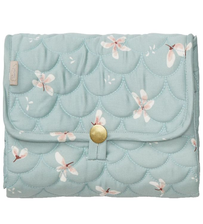 Image of Cam Cam Pusleunderlag - 86x44 - Quilted - Windflower Blue (XF029)