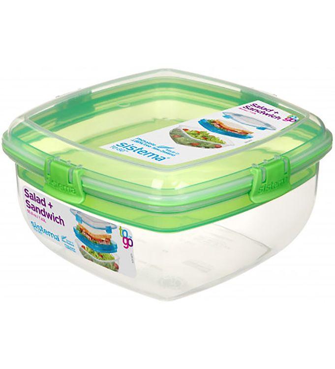 Image of Sistema Madkasse - Salad & Sandwich - 1,63 l - Grøn (XF314)