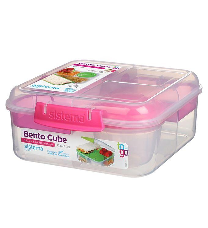 Image of Sistema Madkasse m. Beholder - Bento Cube - 1,25 l - Pink (XF374)