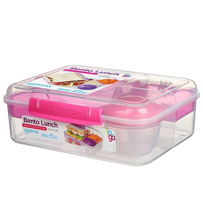 Image of Sistema Madkasse m. Beholder - Bento Lunch - 1,65 l - Pink (XF375)