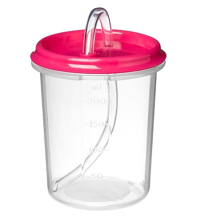 Image of Sistema Kop m. Sugerør - Dinkee Straw - 250 ml - Pink (XF381)