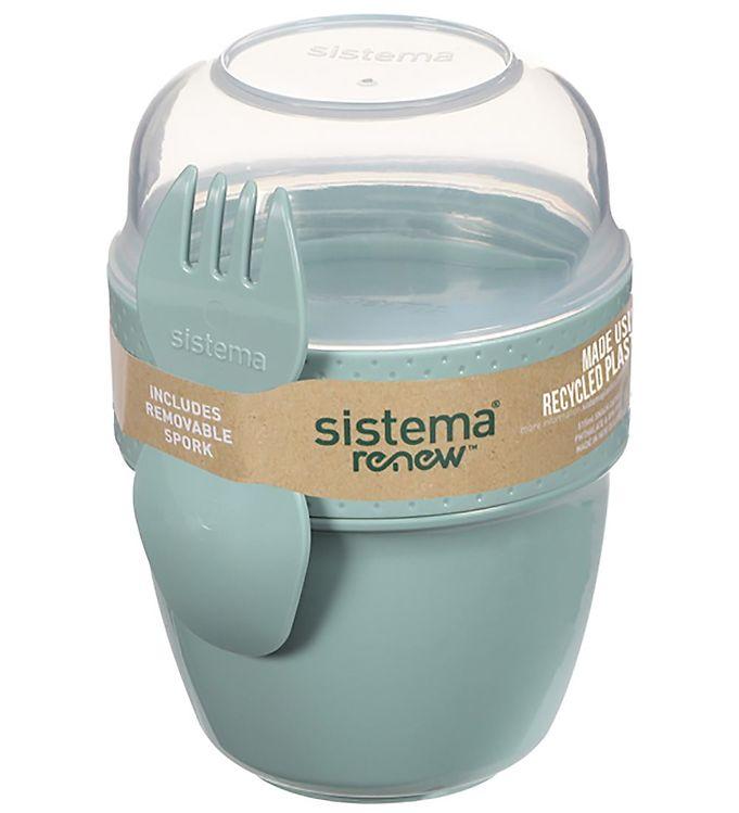 Image of Sistema Madkasse m. Bestik - Snack Capsule Renew - 515 ml - Mint (XF385)