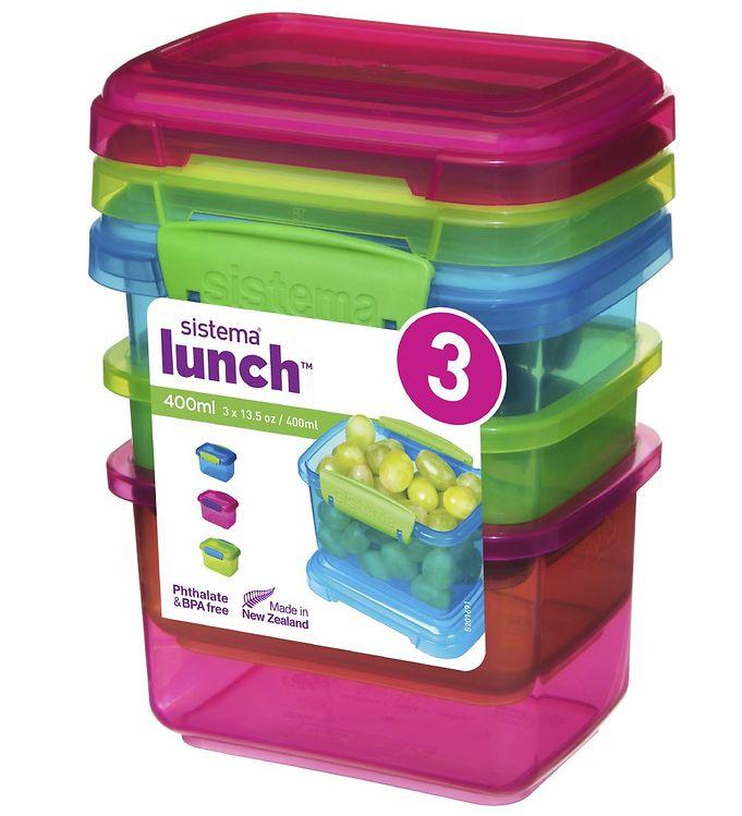 Image of Sistema Madkasser - Lunch Packs - 3-pak - 400 ml - Multi (XF439)