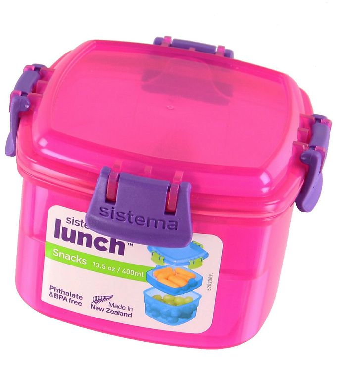 Image of Sistema Madkasse - Lunch Snacks - 400 ml - Pink (XF469)