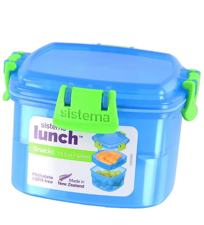 Image of Sistema Madkasse - Lunch Snacks - 400 ml - Blå (XF470)