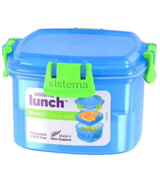 Image of Sistema Madkasse - Lunch Snacks - 400 ml - Blå (XF470)