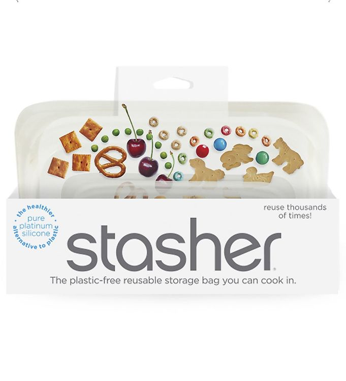Image of Stasher Opbevaringspose - Snack - 293,5 ml - Clear (XF475)