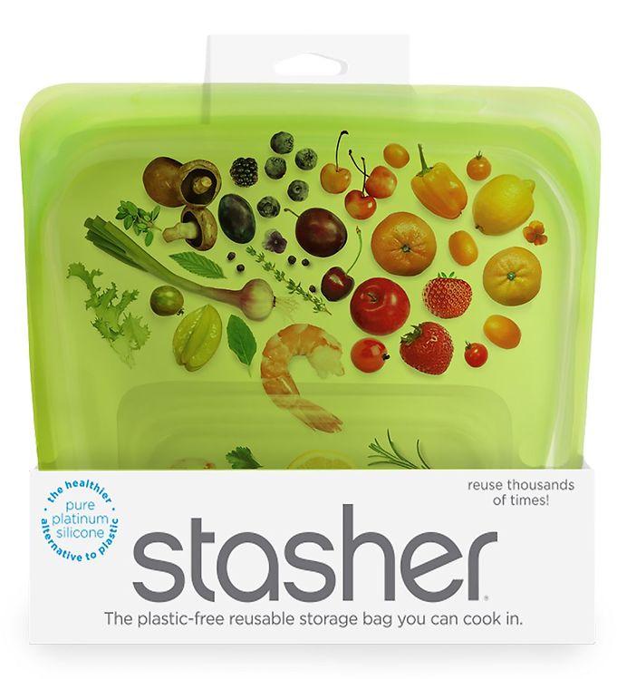 Image of Stasher Opbevaringspose - Medium - 450 ml - Lime (XF485)