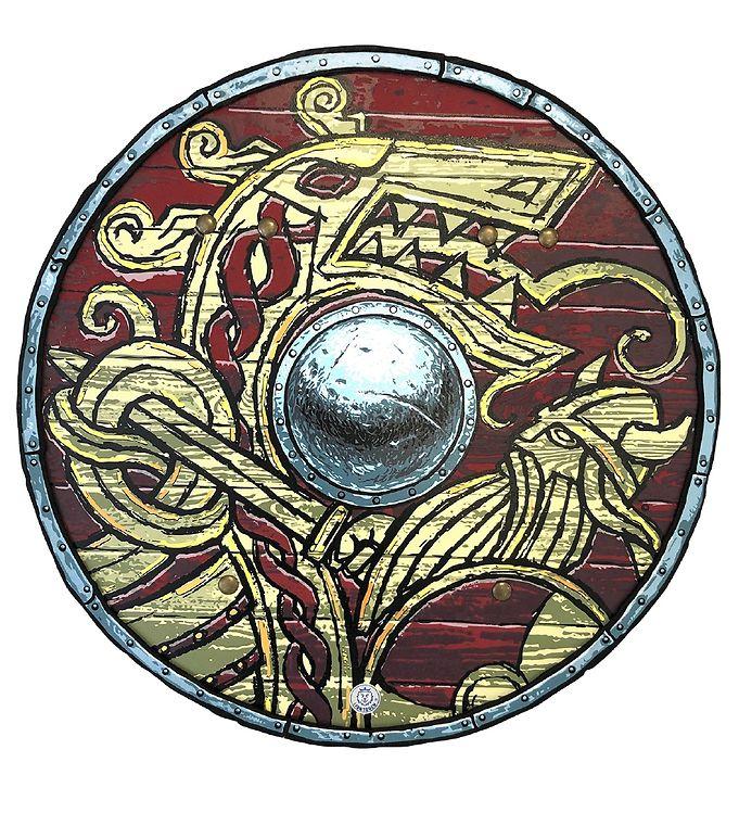 Image of Liontouch Udklædning - Vikingeskjold - Rød (XF531)