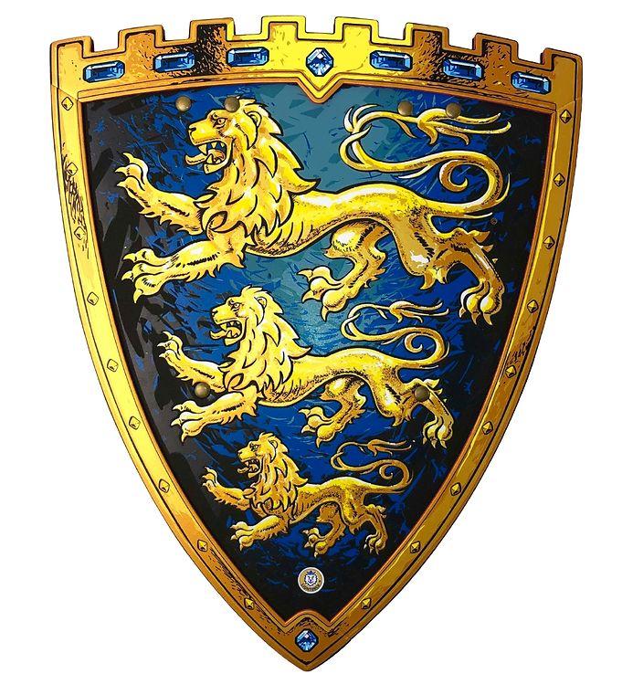 Image of Liontouch Udklædning - Triple Lion Skjold - Blå (XF568)