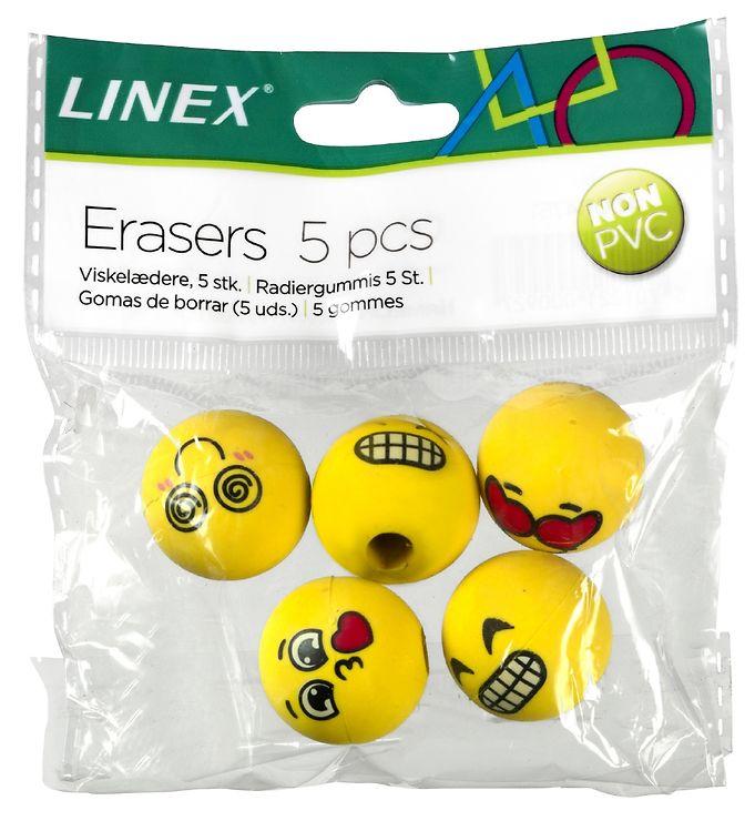 Linex Viskelæder - 5 stk. - Emojis