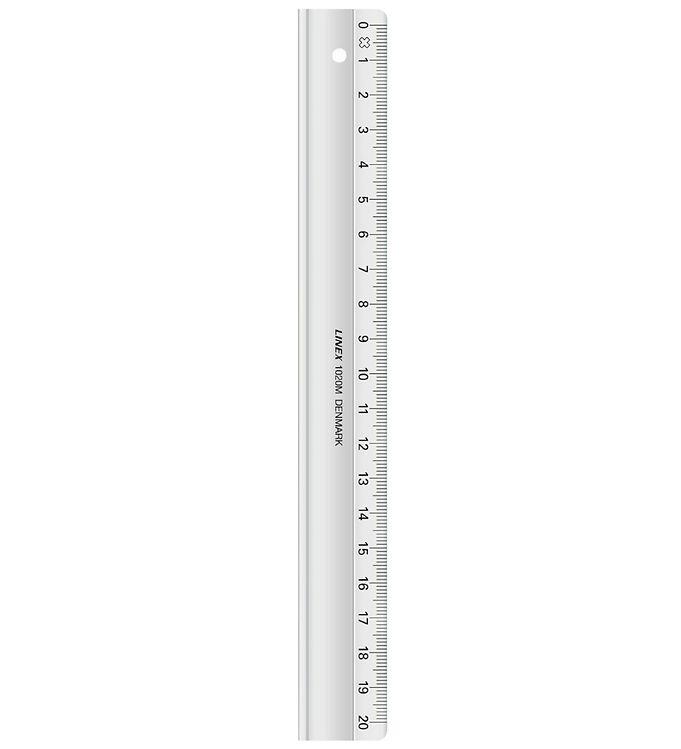 Image of Linex Skolelineal - 20cm - Gennemsigtig (XF749)