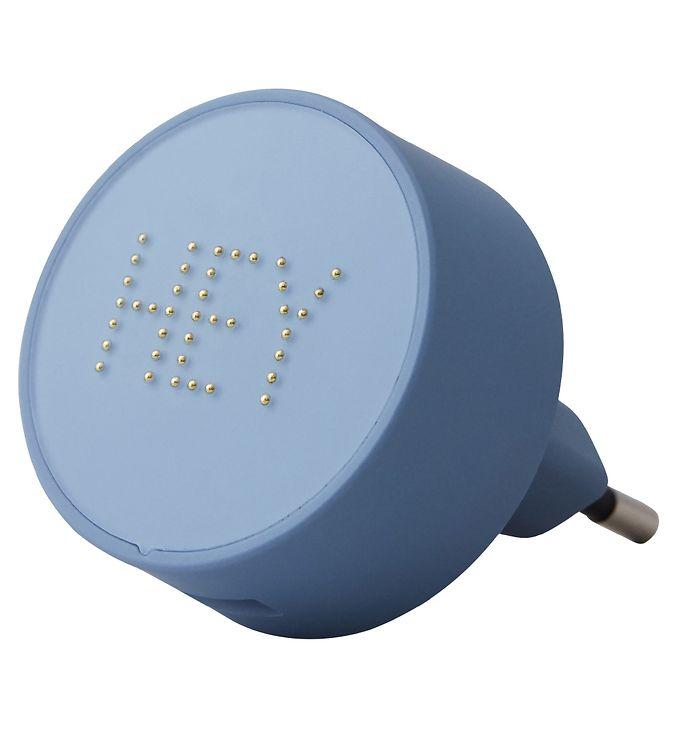 Image of Design Letters Adapter - 12W - Blå/Hey m. Perler (XF991)
