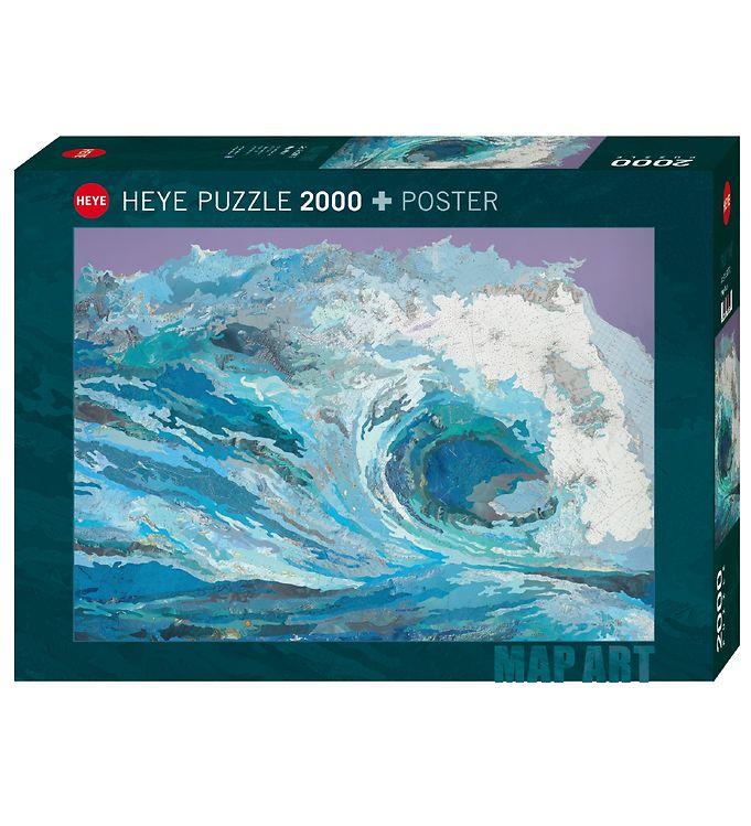 Image of Heye Puzzle Puslespil - 2000 Brikker - Map Wave (XG092)