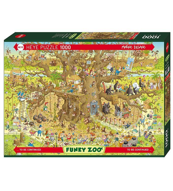 Image of Heye Puzzle Puslespil - 1000 Brikker - Monkey Habitat (XG094)