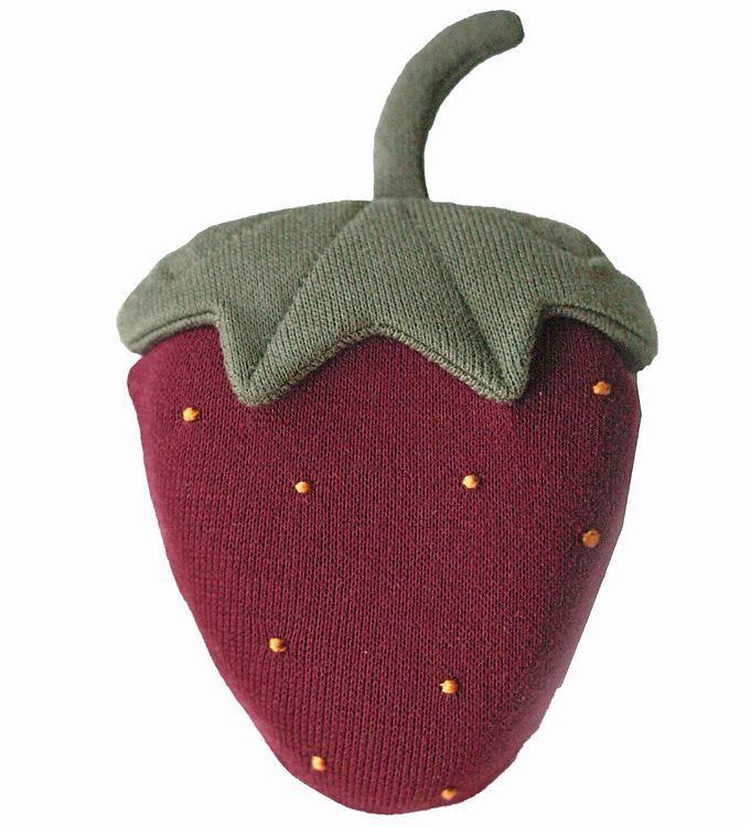 Image of Pine Cone Gribelegetøj - Strawberry Crinkle Toy - Deep Red (XG275)