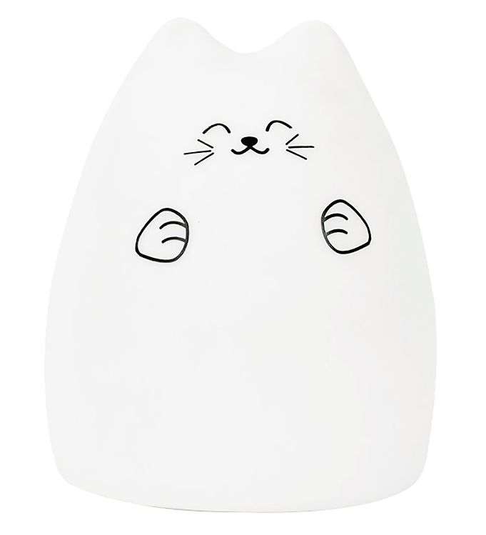 Image of Rabbit & Friends Lampe - Kat - Hvid (XG331)