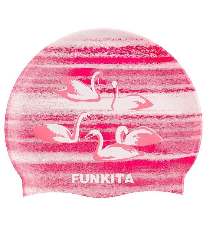 Image of Funkita Badehætte - Swan Lake - Rosa (XG469)