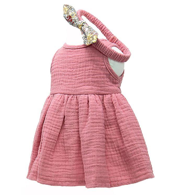 Image of Mini Mommy Dukketøj - 42-46 cm - Kjole - Gammelrosa (XG637)