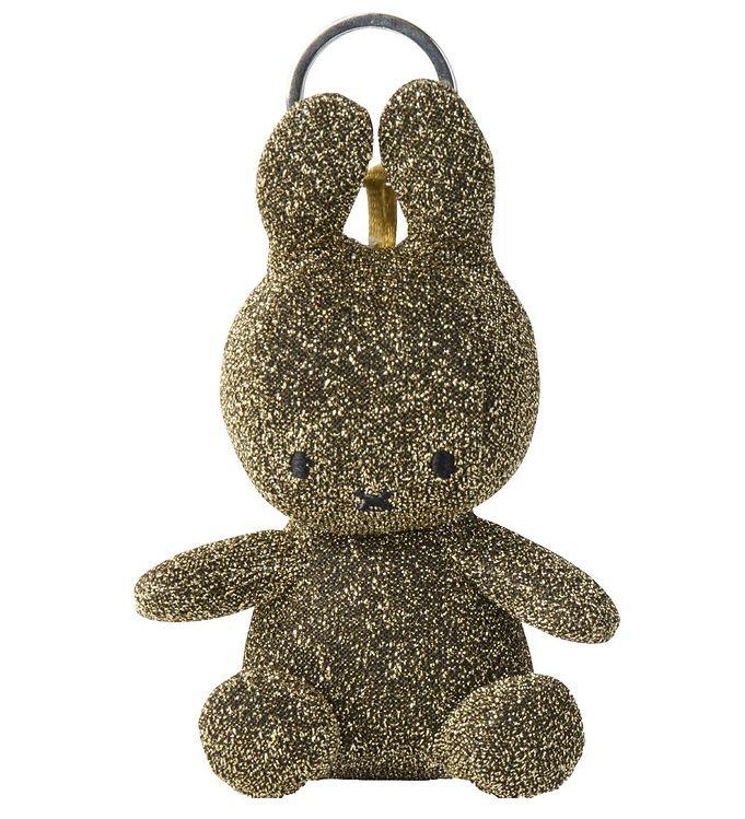 Image of Bon Ton Toys Nøglering - 10 cm - Miffy - Guldglimmer (XG681)