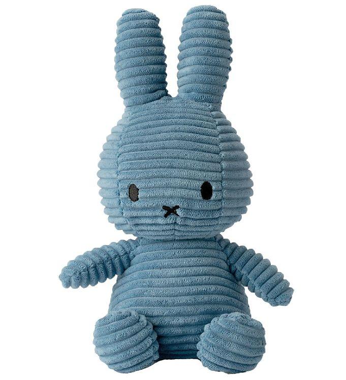 Image of Bon Ton Toys Bamse - 23 cm - Sitting Miffy - Aviator Blue Fløjl (XG689)