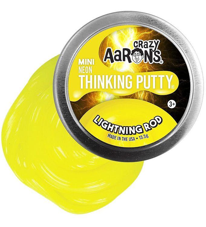 Image of Crazy Aarons Putty Slim - Ø 5 cm - Mini Neon - Lightning Rod (XG882)