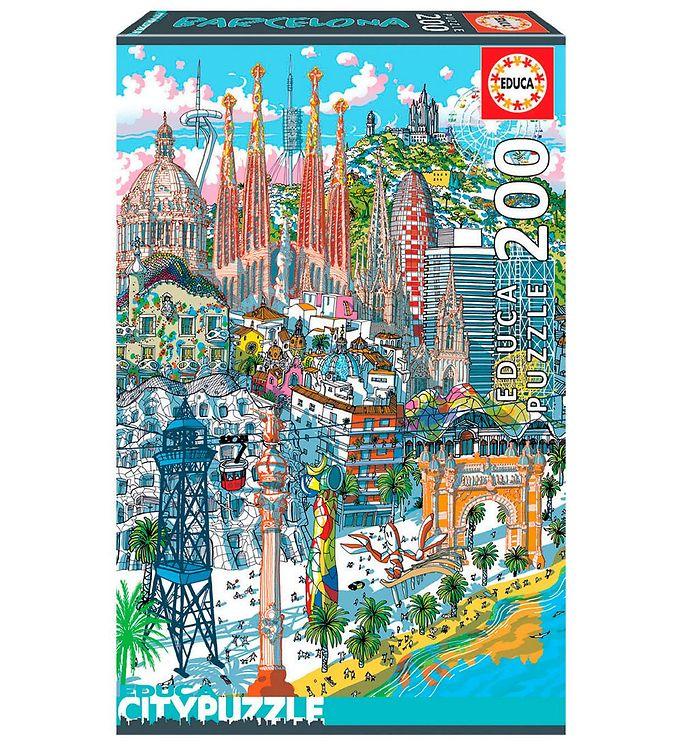 Image of Educa City Puslespil - 200 Brikker - Barcelona (XH172)