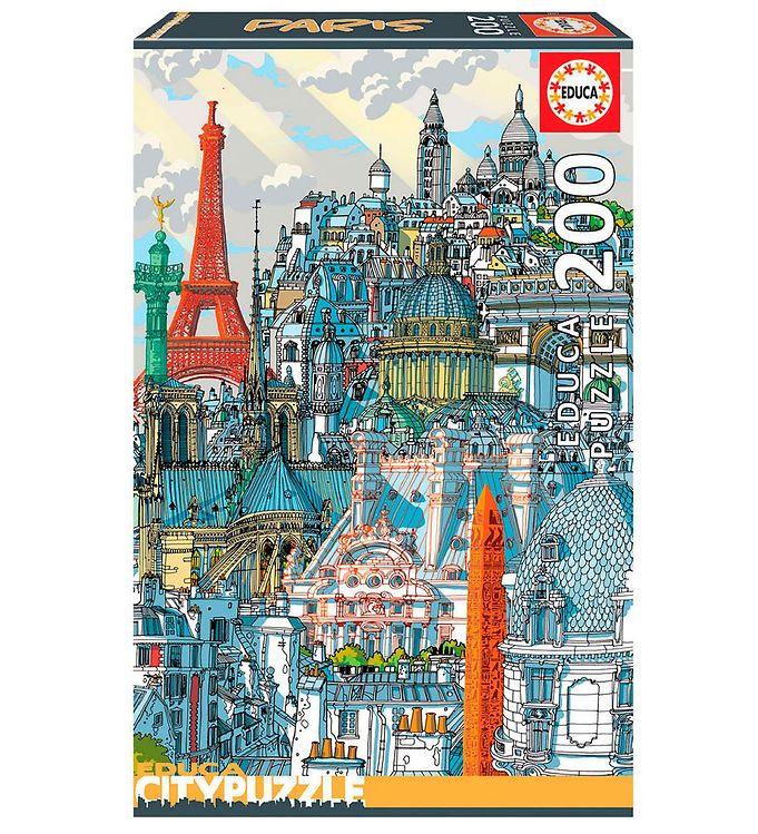 Image of Educa Puslespil - City - 200 Brikker - Paris (XH173)