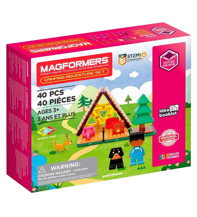 Image of Magformers Magnetsæt - 40 Dele - Camping Eventyr (XH285)