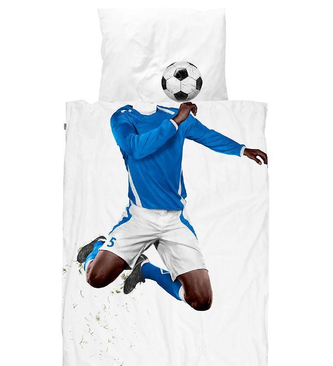 Image of SNURK Sengetøj - Voksen - Soccer Champ Dark Blue (XH329)
