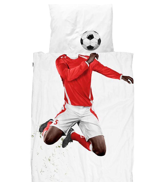 Image of SNURK Sengetøj - Voksen - Soccer Champ Dark Red (XH332)