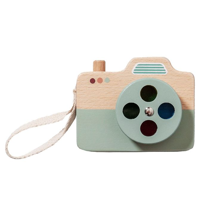 Image of Petit Monkey Kamera - Træ - Blå (XH952)