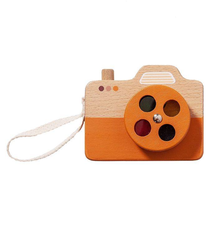 Image of Petit Monkey Kamera - Træ - Orange (XH955)