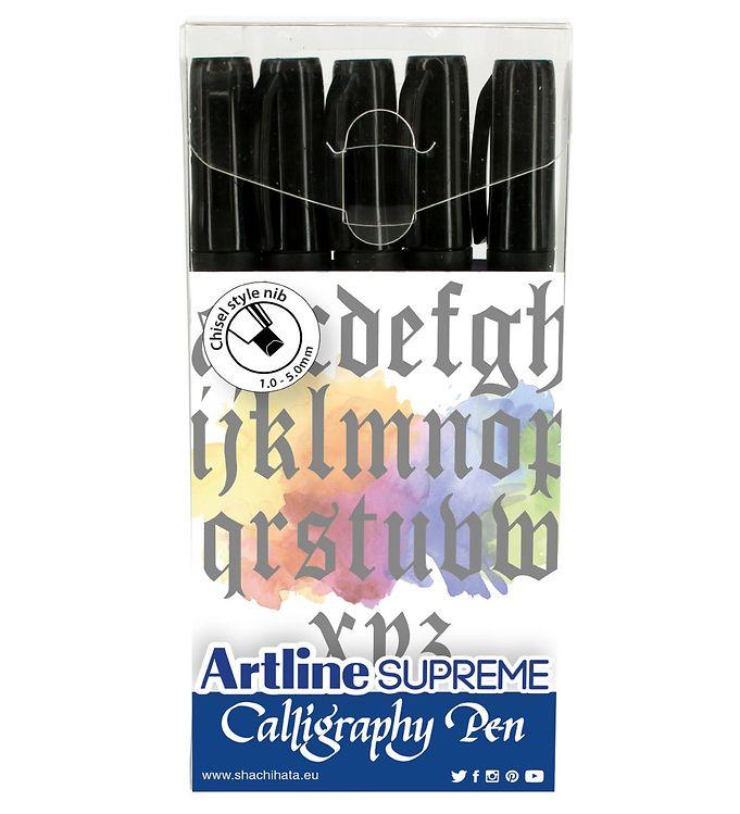 Image of Artline Tuscher - Supreme Calligraphy Pen - 5 stk. - Sort (XH984)