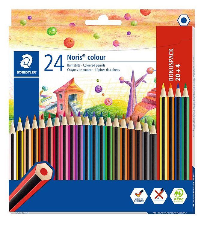 Image of Staedtler Farveblyanter - Noris Colour Bonus Pack - 20+4 stk (XI002)
